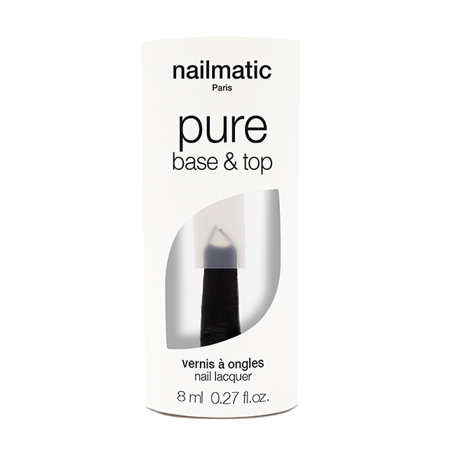 nailmatic pure color 2in1べーストップコート(クリア)8ml 自然由来成分 マニキュア ネイルマティック