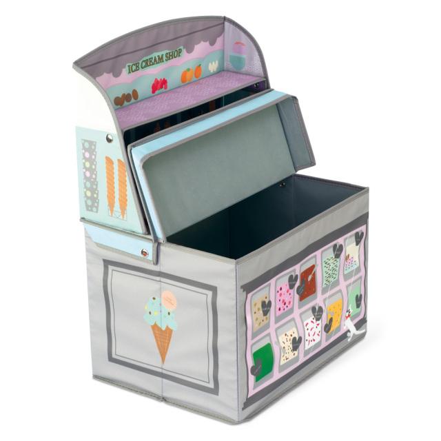 キッズ収納ボックス アイスクリームショップ ホッペル おままごと ごっこ遊び KISHIMA