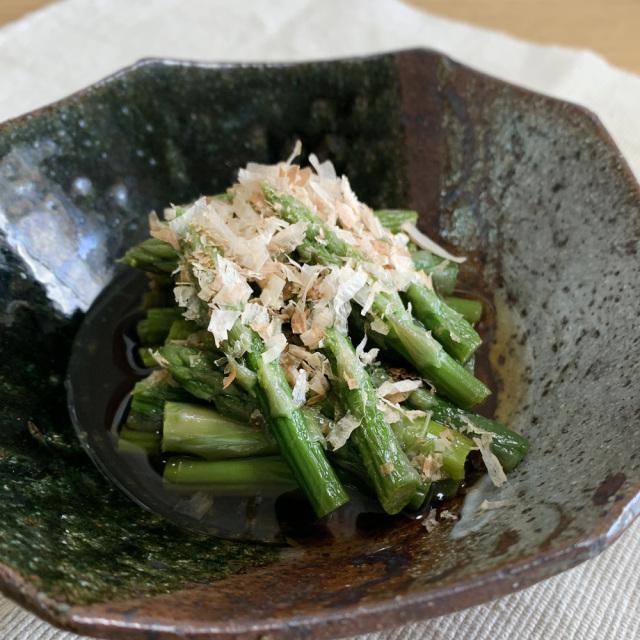 mikata冷凍アスパラを使ったおひたし調理例 北海道産アスパラガス ニチノウ
