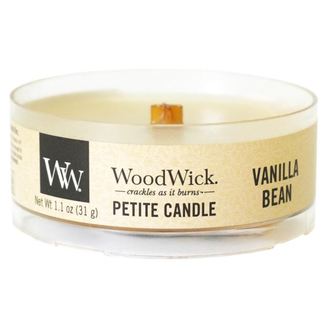 WoodWick プチキャンドル「バニラビーン」 カメヤマキャンドル