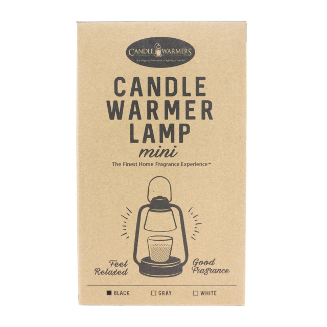 キャンドルウォーマーランプ ミニ ブラック アロマキャンドル 照明 ハロゲンライト カメヤマキャンドル 化粧箱
