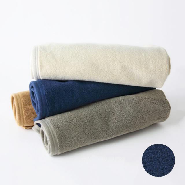 今治タオル バスマット プラシッド ネイビー コットン 日本製 RESTFOLK