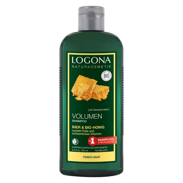 LOGONA ボリュームシャンプー ビール&はちみつ250ml オーガニック Vegan ロゴナ