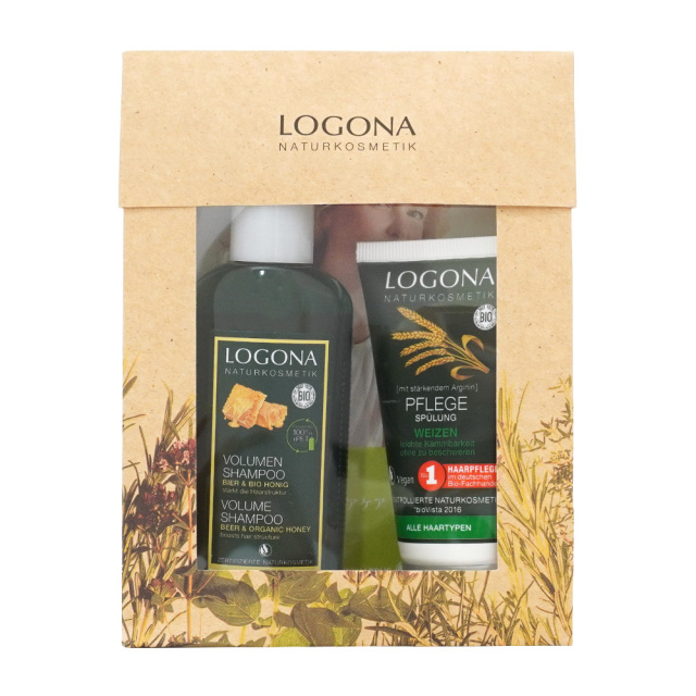 LOGONA ヘアケアトライアルセット シャンプー&コンディショナー オーガニック Vegan ロゴナ