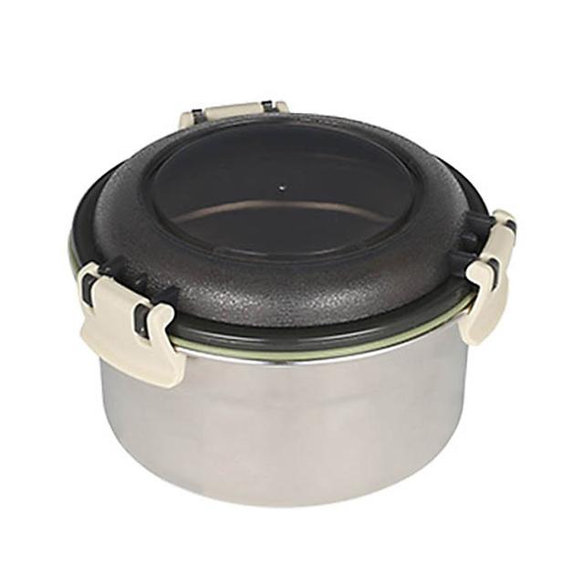 ダルトン(DULTON) フードコンテナ ラウンド S(ベージュ) ステンレス製 保存容器/キャニスター/タッパー