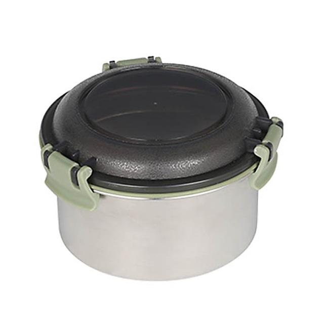 ダルトン(DULTON) フードコンテナ ラウンド S(グリーン) ステンレス製 保存容器/キャニスター/タッパー