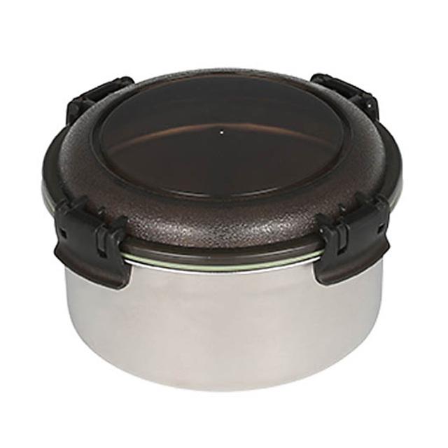 ダルトン(DULTON) フードコンテナ ラウンド M(スモーク) ステンレス製 保存容器/キャニスター/タッパー