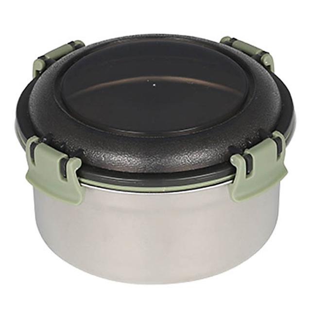 ダルトン(DULTON) フードコンテナ ラウンド L(グリーン) ステンレス製 保存容器/キャニスター/タッパー