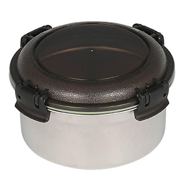ダルトン(DULTON) フードコンテナ ラウンド L(スモーク) ステンレス製 保存容器/キャニスター/タッパー