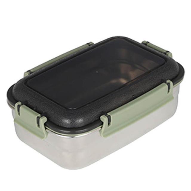 ダルトン(DULTON) フードコンテナ レクタングル L(グリーン) ステンレス製 保存容器/キャニスター/タッパー