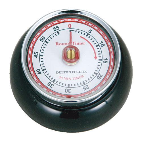 ダルトン(DULTON) カラーキッチンタイマー(ブラック) アナログ式 マグネット付き