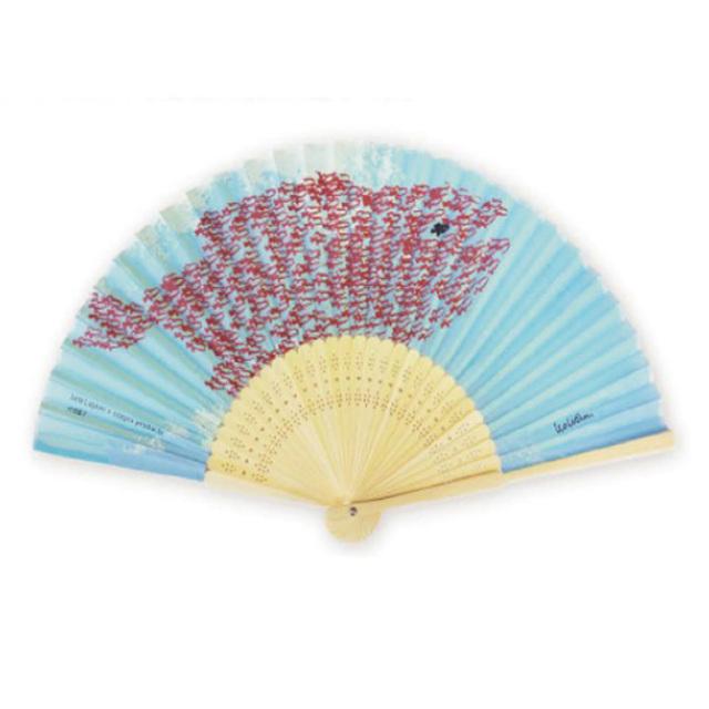 シルク扇子 cozyca products レオ・レオニ「Swimmy」スイミー
