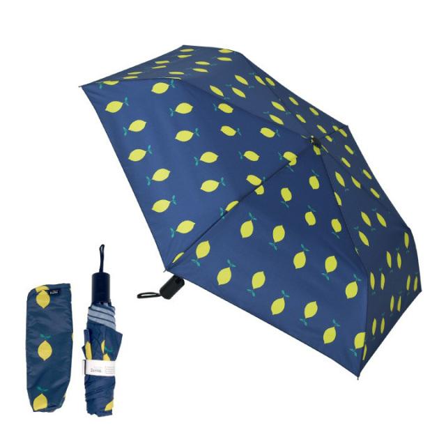 Danke 晴雨兼用折りたたみ傘 Lemon 超撥水・ハンドル抗菌・UVカット