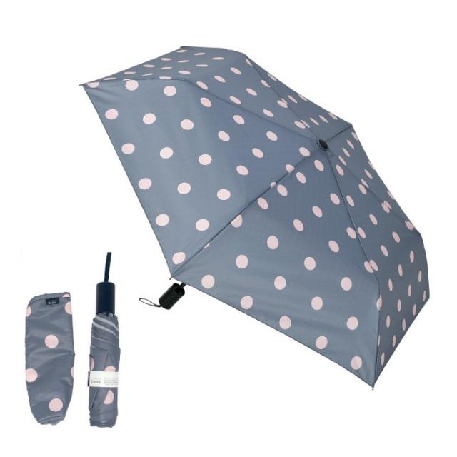 Danke 晴雨兼用折りたたみ傘 PinkDot 超撥水・ハンドル抗菌・UVカット