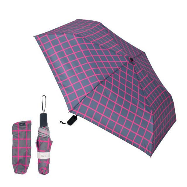 Danke 晴雨兼用折りたたみ傘 GraphCheckPink 超撥水・ハンドル抗菌・UVカット