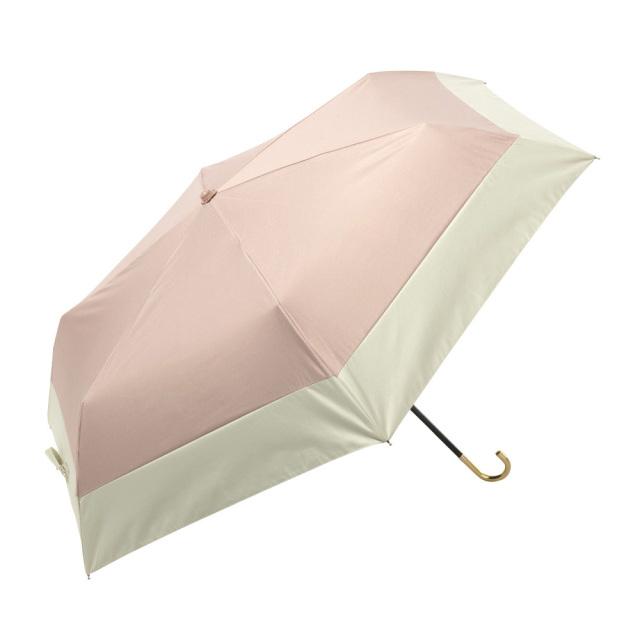 晴雨兼用傘 折りたたみ傘 レディース バイカラー ピンク because(ビコーズ)