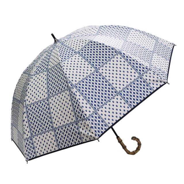 晴雨兼用傘 レディース ショート傘 北欧パッチワーク Lune jumelle(ルナ・ジュメイル)