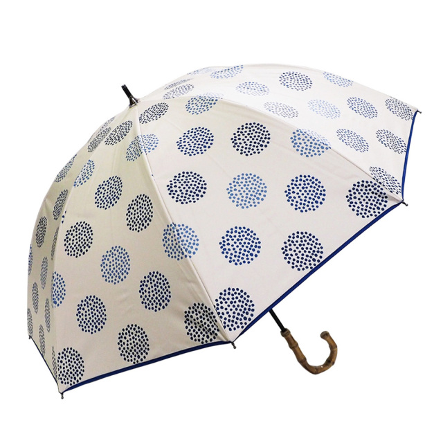 晴雨兼用傘 レディース ショート傘 北欧ミニマムドット Lune jumelle(ルナ・ジュメイル)