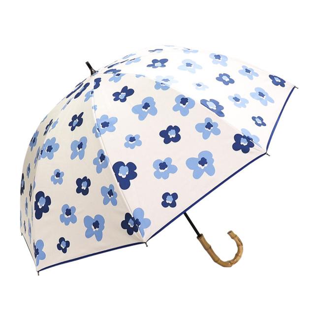晴雨兼用傘 レディース ショート傘 北欧フラワー Lune jumelle(ルナ・ジュメイル)