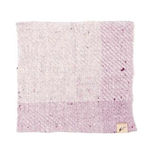 ガラ紡ハンカチ (紅紫) オーガニックコットン100% 抗菌防臭加工 アンドウ