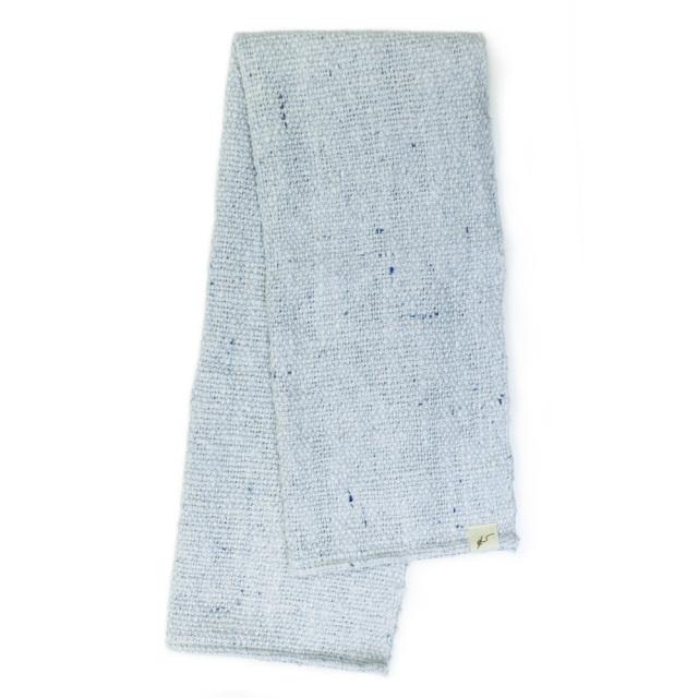 ガラ紡フェイスタオル(青色) オーガニックコットン100% 抗菌防臭加工 アンドウ