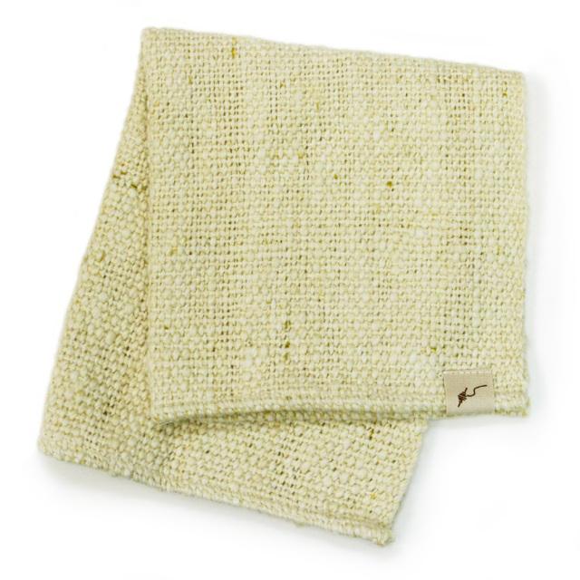 ガラ紡ハンドタオル(萌木色) オーガニックコットン100% 抗菌防臭加工 アンドウ