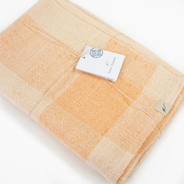 ガラ紡バスタオル(橙色) オーガニックコットン100% 抗菌防臭加工 アンドウ