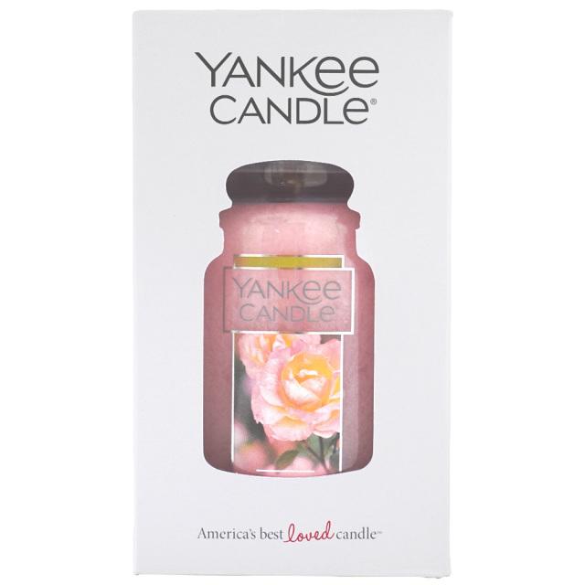 YANKEE CANDLEジャーL「フレッシュカットローズ」アロマキャンドル ヤンキーキャンドル パッケージ