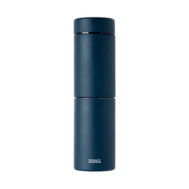 PRISMATE (プリズメイト) すみずみまで洗えるステンレスボトル 2種のフィルターとタンブラーキャップ付 (ネイビー)