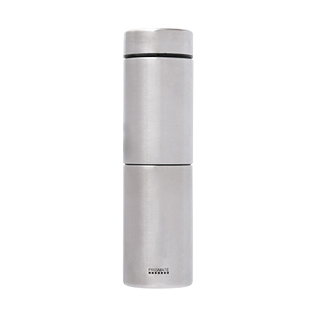 PRISMATE (プリズメイト) すみずみまで洗えるステンレスボトル 2種のフィルターとタンブラーキャップ付 (シルバー)