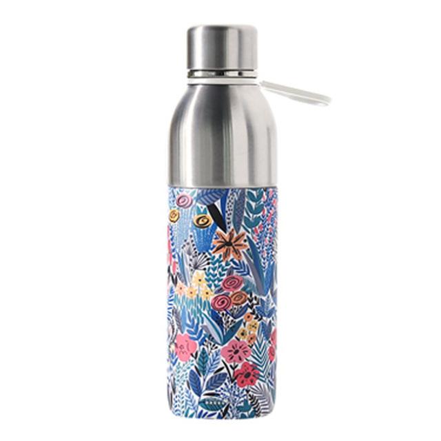 PRISMATE (プリズメイト) すみずみまで洗える2WAYステンレスボトル フラワー タンブラーキャップ付