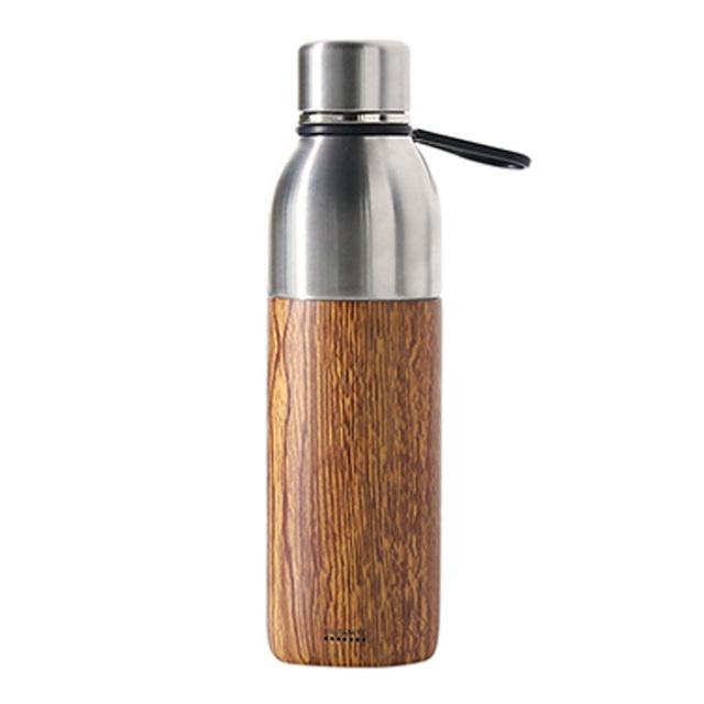 PRISMATE (プリズメイト) すみずみまで洗える2WAYステンレスボトル タンブラーキャップ付 (メイプルウッド)