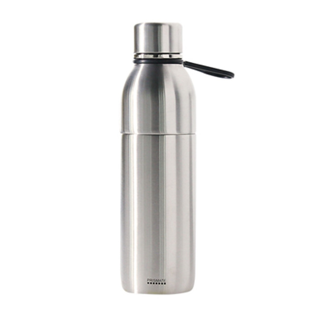 PRISMATE (プリズメイト) すみずみまで洗える2WAYステンレスボトル タンブラーキャップ付 (シルバー)