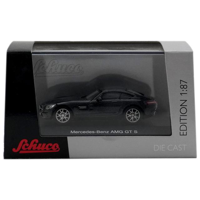 ミニカー メルセデス・ベンツ AMG GT S ブラックメタリック 1/87 Schuco シュコー