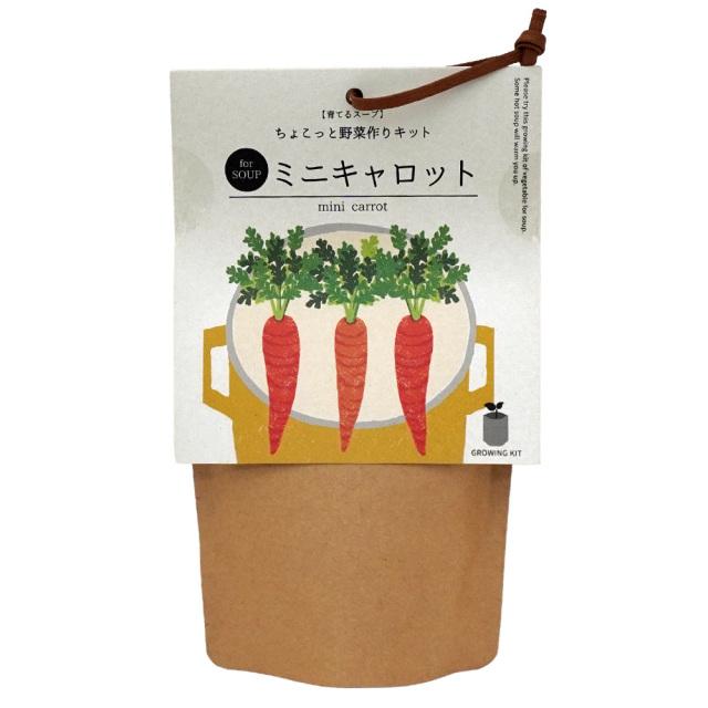 育てるスープ ちょこっと野菜作り栽培キット ミニキャロット にんじん 聖新陶芸