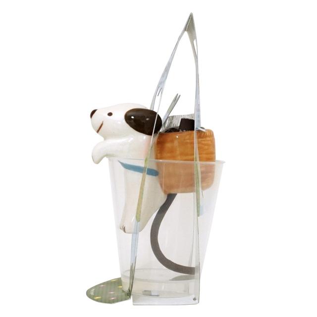 しっぽん クローバー栽培キット イヌ 底面給水ポット 聖新陶芸 側面
