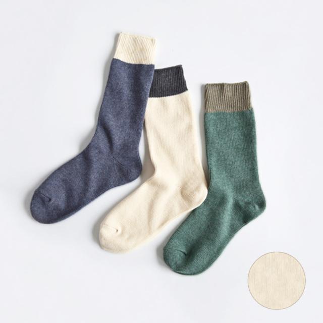 オーガニックコットン スムースソックス ナチュラル 靴下 コットン100% 日本製 RESTFOLK