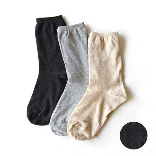 シルクダブルソックス ダークグレー 靴下 日本製 RESTFOLK