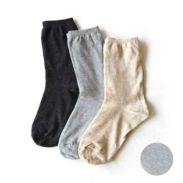 シルクダブルソックス ライトグレー 靴下 日本製 RESTFOLK