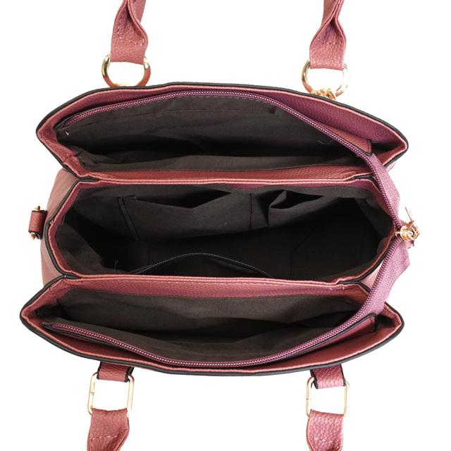 ショルダーバッグ レディース ハンドバッグ 2way ピンク チャーム付き ポケット