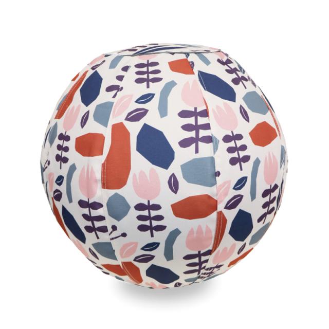 バランスボール 55cm 北欧デザイン フラワークリーム R04-6000 moiku