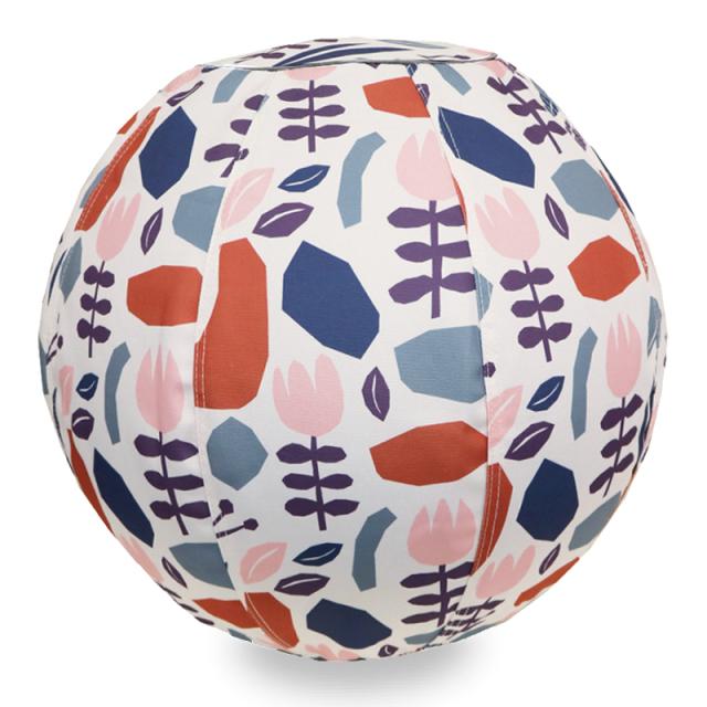 バランスボール 65cm 北欧デザイン フラワークリーム R04-6004 moiku