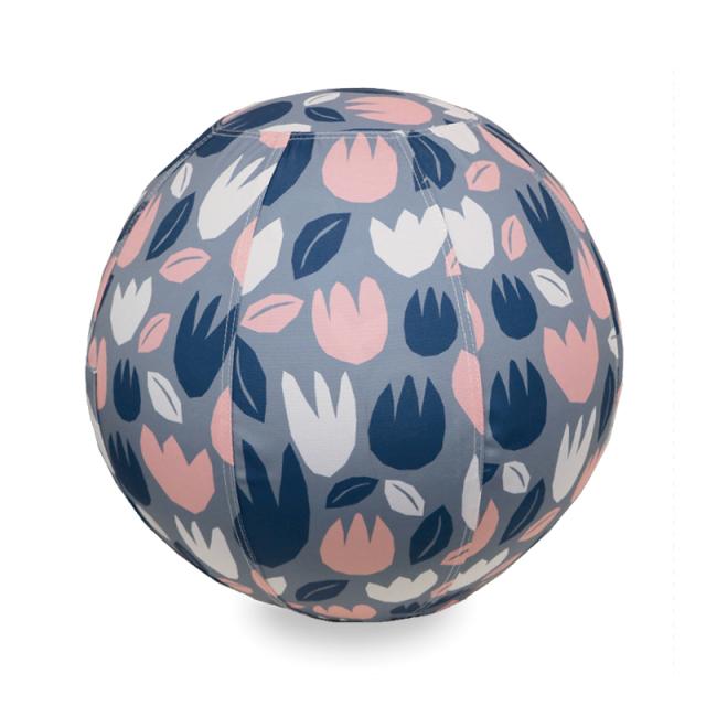 バランスボール 55cm 北欧デザイン フラワーグレー R04-6001 moiku
