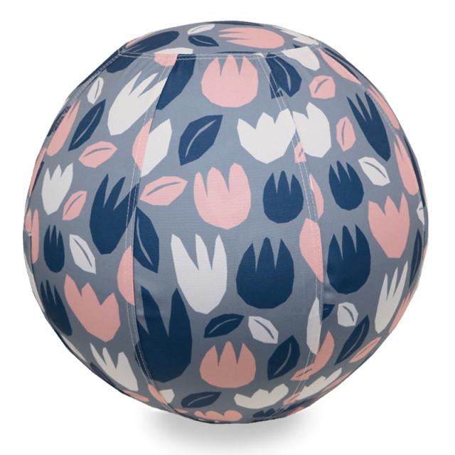 バランスボール 65cm 北欧デザイン フラワーグレー R04-6005 moiku