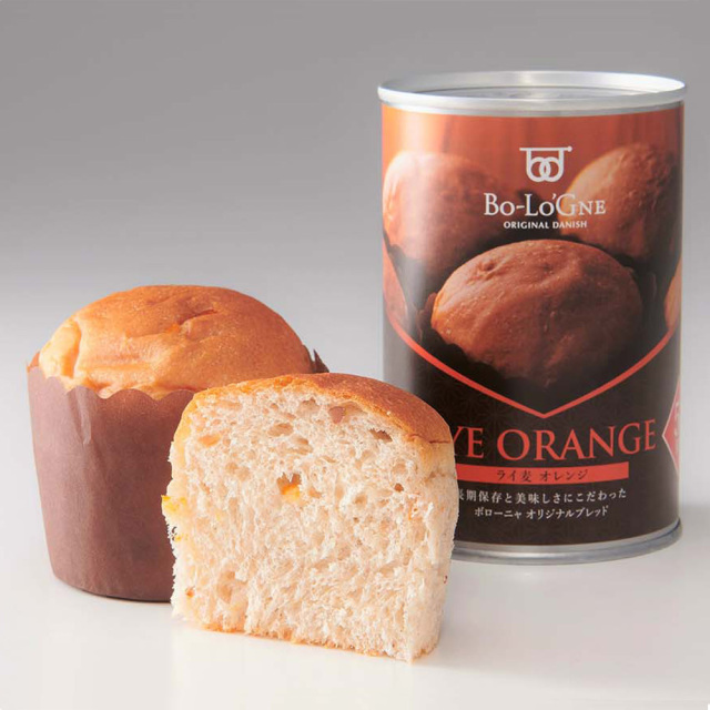 備蓄deボローニャ(ライ麦オレンジ) 二個入り ブリオッシュパン 保存食 非常食 ボローニャ
