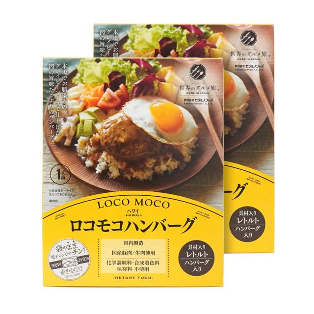 ロコモコハンバーグ 2点セット レトルト 世界のグルメ旅 ハワイの定番 無添加 カラミノフーズ