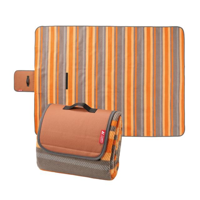 ラージ レジャーマット レジャーシート 軽量 オレンジ コンパクト 折りたたみ キャンプ ピクニック