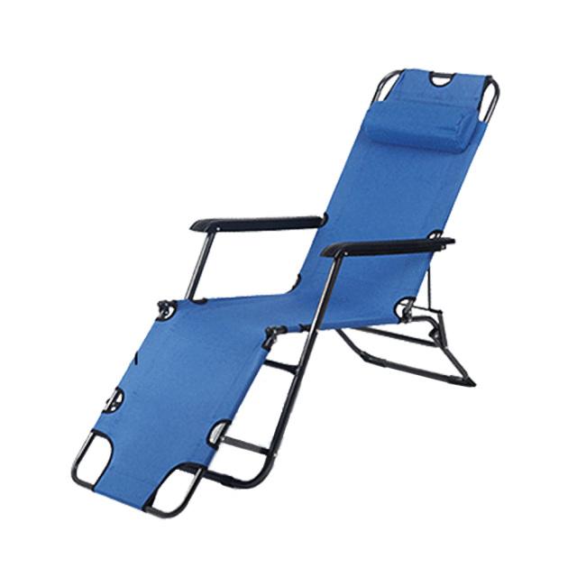 アウトドアチェア ネイビー キャンプ リクライニング 折りたたみ 簡易ベッド