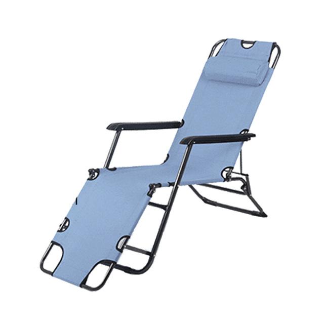 アウトドアチェア グレー キャンプ リクライニング 折りたたみ 簡易ベッド