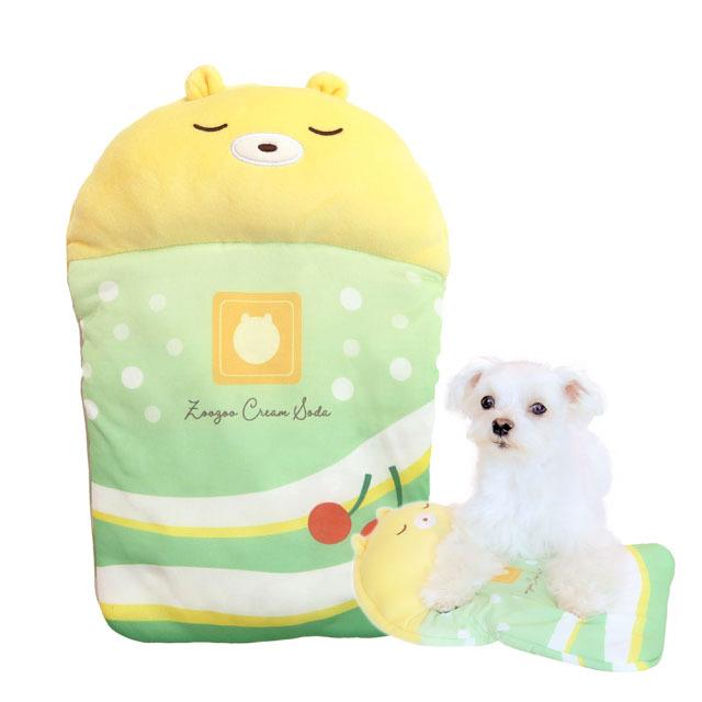 小型犬・猫用 ひんやりグッズ 氷まくら くまちゃんフロート 氷嚢クッション ペッツルート